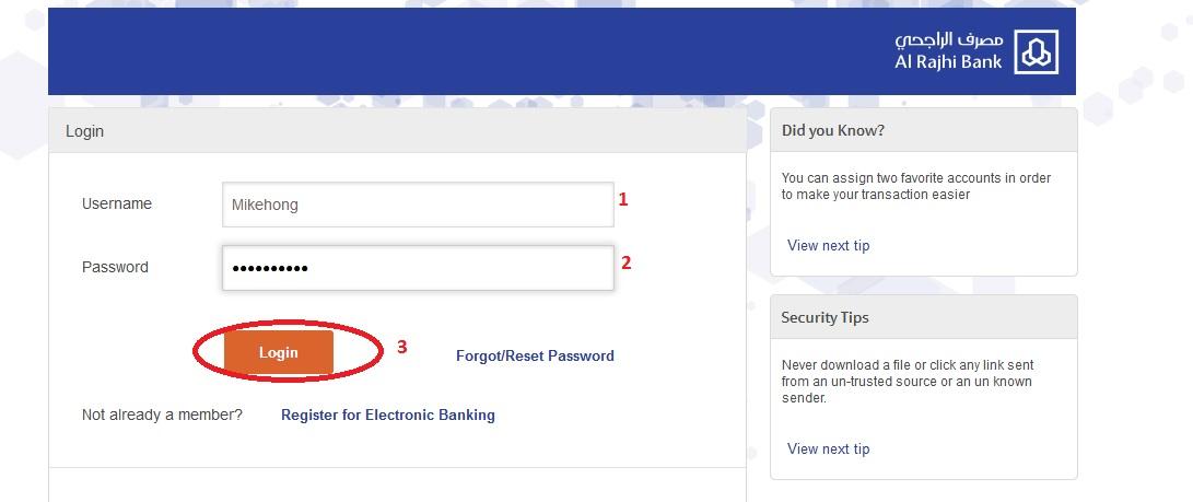 al rajhi bank online banking saudi arabia