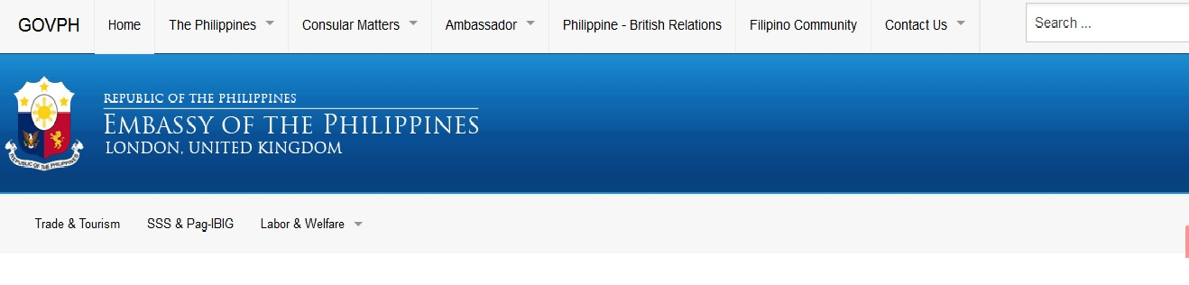 philembassy-uk org ePassport & Passport Renewal : Philippine
