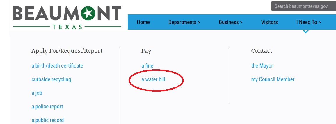beaumonttexas gov Pay Water Bill Online : City of Beaumont
