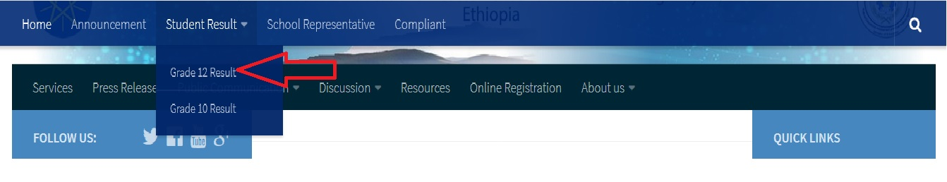 nae gov et Admission Cards & Exam Results Online Ethiopia