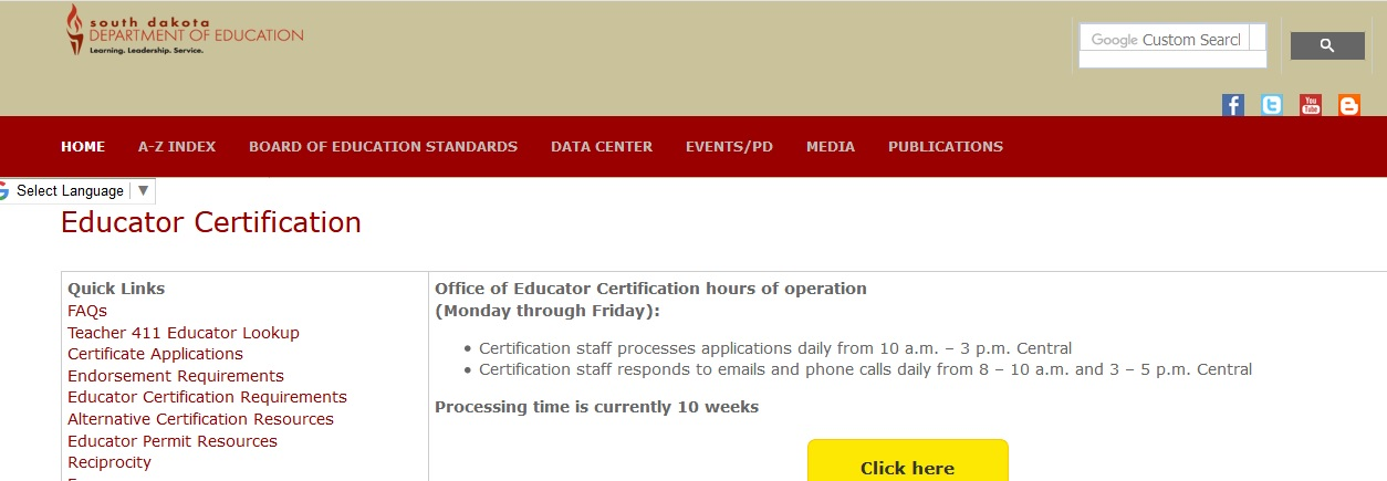 certificate doe teacher dakota initial education south statusin renewal sd application department gov