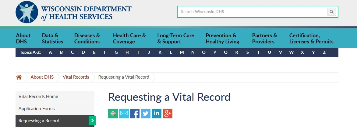 Dhswisconsin Request For Birth Certificate Wisconsin