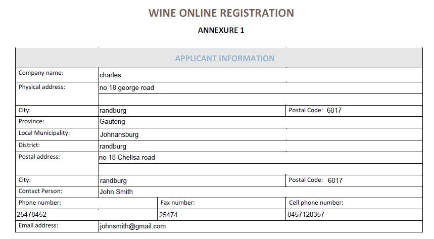 dawineonline co za Wine Online Registration South Africa